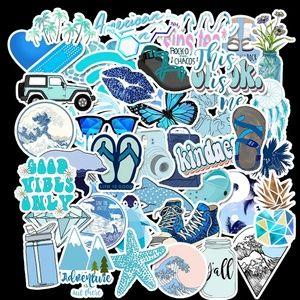 🔹50 Blue VSCO Stickers